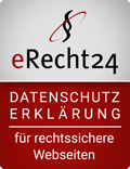 e-Recht24 Siegel Datenschutzerklärung für rechtssichere Webseiten