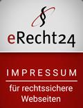 e-Recht24 Siegel Impressum für rechtssichere Webseiten